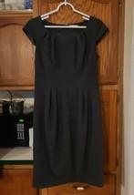Calvin Klein Dress Gray Charcoal Business Sheath Party Lined Women's Siz... - $25.73