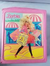 Vintage 1989 Mattel Barbie Doll Case City Fashion Pink + One Complete Ou... - $37.19