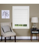 Celestial Sheer White Cordless Double Layered Shade Blinds  30 x 72 - $47.52