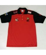 Honda Motorcycle Racing Polo Golf Shirt Mens L Mobil Pirelli DID Racing ... - $39.48