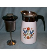 Vtg Corning COUNTRY FESTIVAL Friendship Stove Top 10 Cup Percolator P149... - $48.95