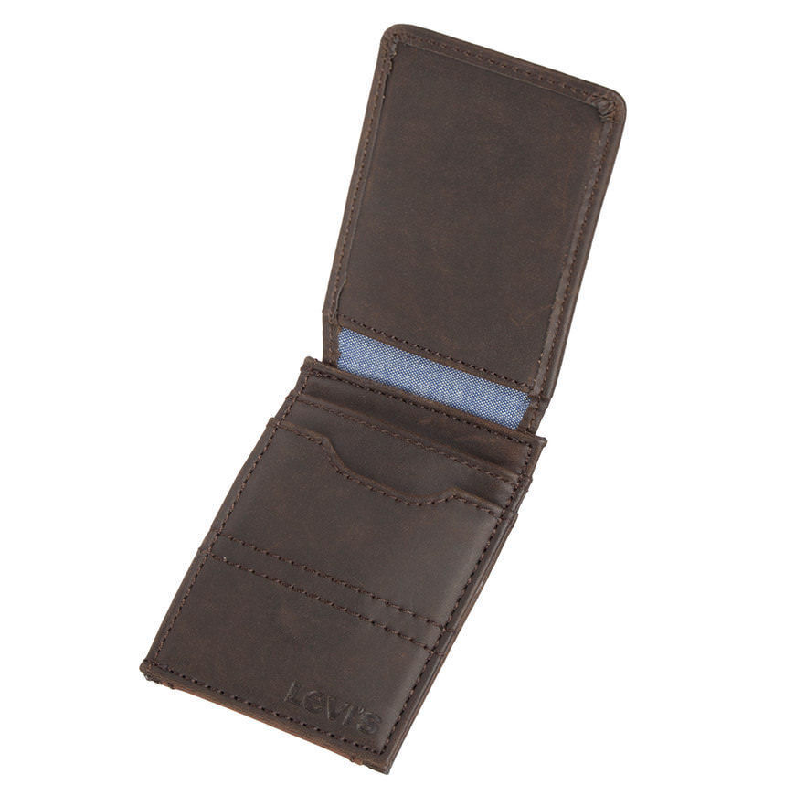 New Men's Levi's Rfid Blocking Wide Magnetic Front Pocket Wallet image 3