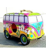 Peace and Love VW bus BIRDHOUSE with Peace symbol and flowers.   A GREAT... - $23.71