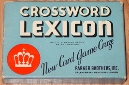 Crossword Lexicon Card Game 1937 Parker Brothers Complete 54 Cards Excellent - $25.00