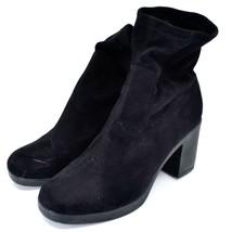 Boohoo Black Velvet Heel Boots UK 8  |EUR 41 | US10 image 2