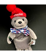 "Coca Cola Bean bag Plush Stuffed Animal 8"" Seal Coke Bottle 1999 Soda  - $9.99"
