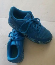 Nike Kids Air Force 1 Premium Shoes Youth Size 6 Blue Safari Print - $29.09