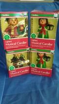 4 Vintage Carolites Lighted Musical Caroller Tested works!  clean 1983 N... - $148.50