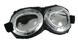 SteamPunk Cosplay WW I Aviator Style Silver Goggles NEW UNWORN - $19.34