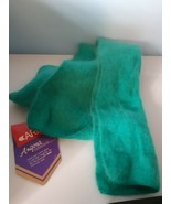 Vintage Aris Angora Scarf Teal Green Womens One Size - $22.72