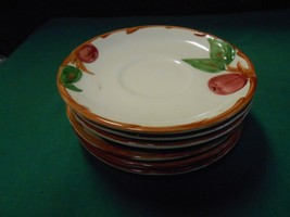 """Great FRANCISCAN """"Apple"""" Set of 6 SAUCERS...........FREE POSTAGE USA - $13.57"""