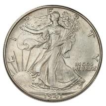 1941-D Argent Marche Liberty Demi Dollar 50C (Choix Bu État - $54.09