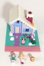 Polly Pocket Ski Lodge Chalet Complete Doll Dog Figures Vintage Bluebird... - $34.95