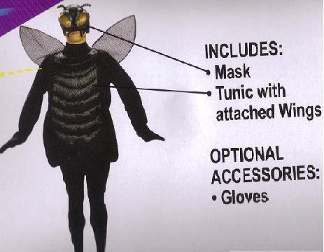 FLY COSTUME ONE SIZE ADULT