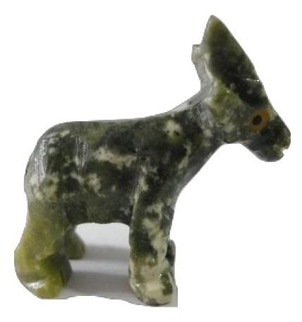 "Mini ""Goat"" Gemstones Figurine Hand Carved Handmade Collectable New Art Peru"