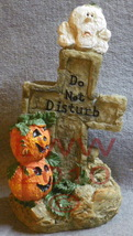Do not Disturb Cross Table-top Tombstone Halloween pumpkin - $3.99