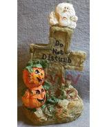Do not Disturb Cross Table-top Tombstone Halloween pumpkin - $3.99