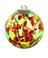 4 Inch Autumn Art Glass Friendship Ball - $18.50