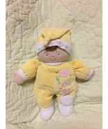 """Gund 12"""" Katla Plush Yellow Pink Flowers Embroidered Baby Doll Lovey Toy... - $11.69"""
