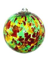 5 Inch Autumn Art Glass Friendship Ball - $26.00