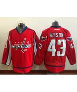 NHL Men's Washington Capitals #43 Tom Wilson Red Ice Hockey Jerseys - $47.99