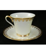 5 Sets LENOX Clarion Footed Cup Saucer  10 piece - $39.99