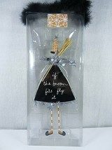 Dept 56 Sandra Magsamen Halloween Witch If The Broom Fits Fly It Signed ... - $25.25