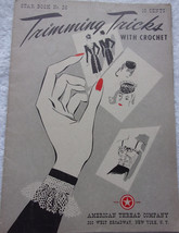 Star Book No 26 Trimming Tricks With Crochet American Thread Company 1940s - $4.99