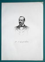 WILLIAM CAPPELLER Ohio Hamilton County Auditor  - 1881 Superb Portrait P... - $9.00
