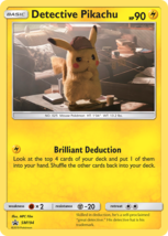Detective Pikachu SM194 Promo Black Star Holo Pokemon TCG - $4.75