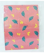 Vintage leafs american greetings gift wrap one sheet sealed red - $11.84