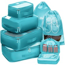 Packing Cubes Travel Set 7 Pc Luggage Carry-On Organizers Toiletry and ... - £19.81 GBP