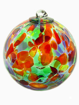 4 Inch Carnival Art Glass Friendship Ball - $18.50