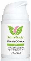 Vitamin C Cream for Face with Coconut Oil, Cocoa Butter & Jojoba Oil, 1.7 fl. oz
