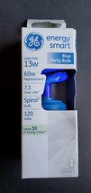 New GE Energy Smart Blue Spiral Party Bulb 13w 60 W Rep. Energy Saving CFL. - $7.91