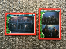 1991 Topps Teenage Mutant Ninja Turtles TMNT II Movie Cards Lot: #91 & #92 - $3.92