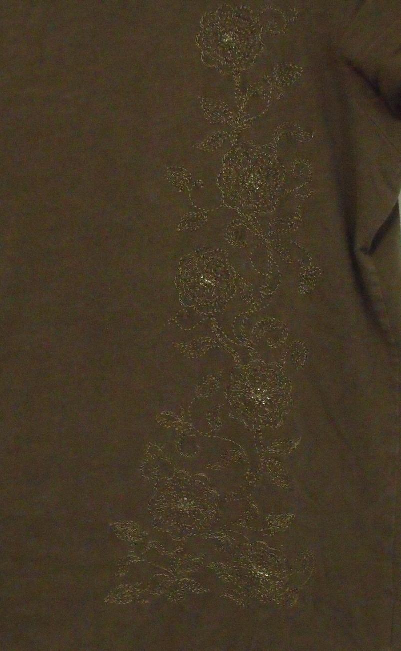 Womens Eddie Bauer Brown Cap Sleeve T Shirt Size Large Tall