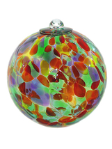 5 Inch Carnival Art Glass Friendship Ball - $26.00