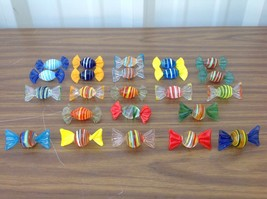 23 pieces Vintage  Murano Art Glass Twist Wrap Hand Blown Candies - $29.00