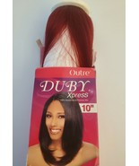 """NEW Outre Duby Xpress 10"""" Human Hair Blend Weave - Color BU (Red) - $12.95"""