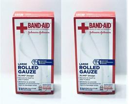 Menge Von 2 Johnson & Johnson BAND-AID Medium Gerollt Mullbinde, 10.2cm ... - $7.85