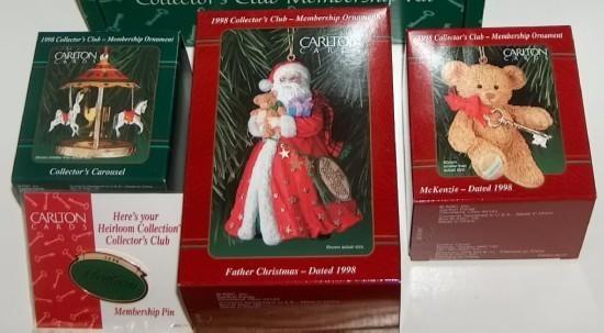 Carlton Christmas Ornaments Heirloom Collection Set