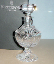 "Waterford Lismore Crystal Perfume Bottle 6"" H Footed 136802 New In Box - $134.90"