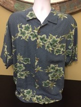 (1A) Tommy Bahamas Men's 100% Silk Short Sleeve Floral Print Shirt Size ... - $21.78