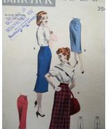 Butterick  7642 Vintage 1940s Pattern Pencil Skirt Unused - $7.95