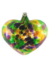 Tuscany Mottled Art Glass Haning Heart - $20.00