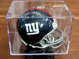 ANDY ROBUSTELLI HOF 71 NEW YORK GIANTS SIGNED AUTO RIDDELL MINI HELMET J... - $197.99