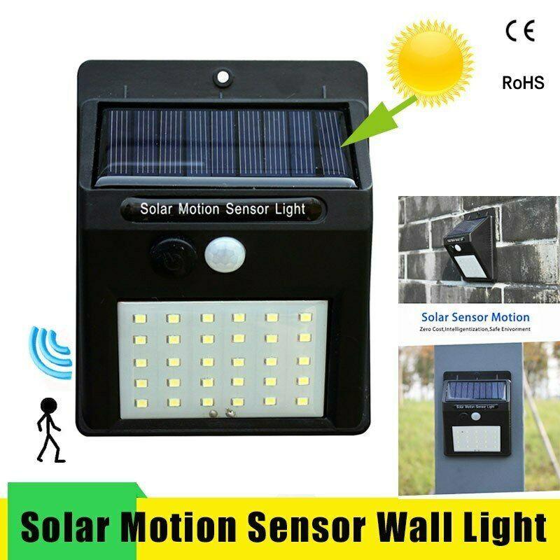 Led Solar Night Light PIR Motion Sensor Wall Light Waterproof 16/20/25/30 LEDs