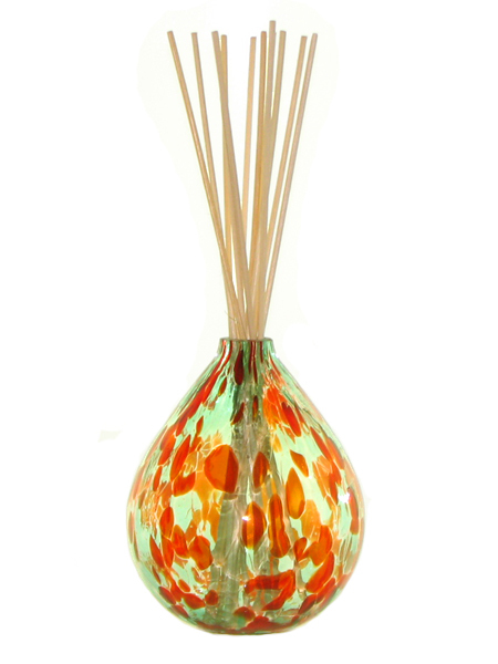 Coni Art Glass Holly Berry Mouth-Blown Reed Diffuser