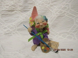 "Vintage Annalee 1991 7"" Artist Bunny With Palette Mwt - $24.00"